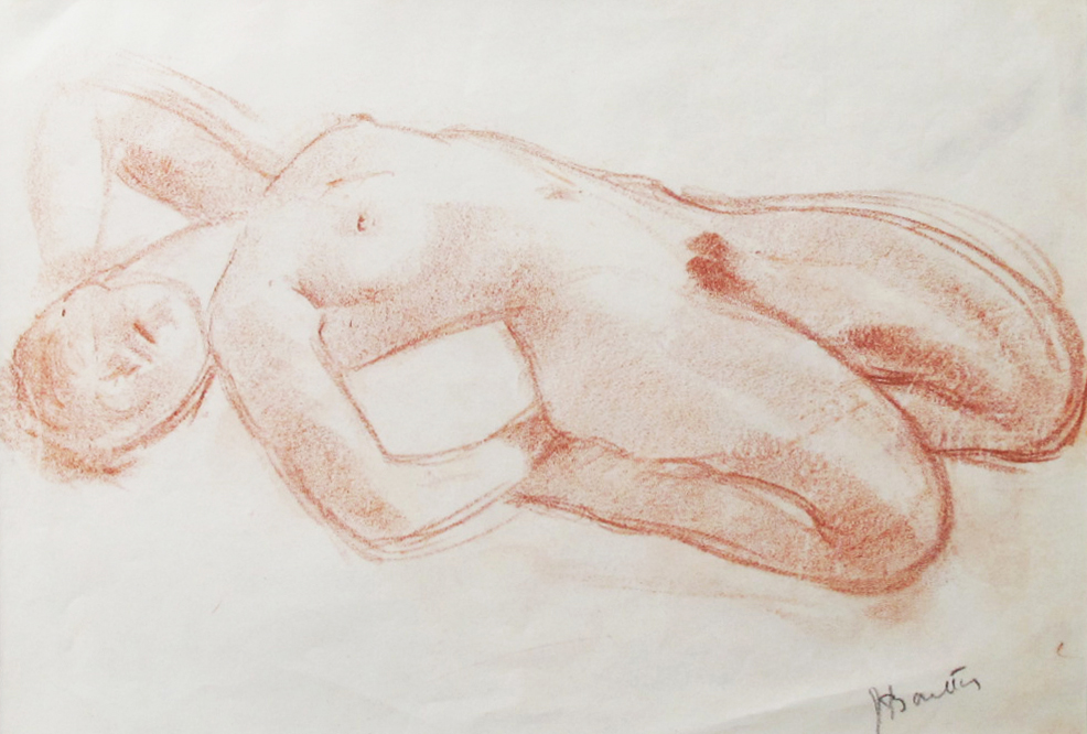 Armand Bouten (1893 –1965), rood krijt op papier