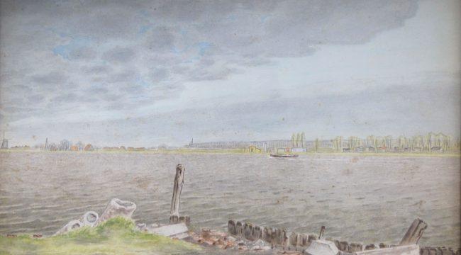 Dirk Hidde Nijland (1881-1955) ,Riviergezicht
