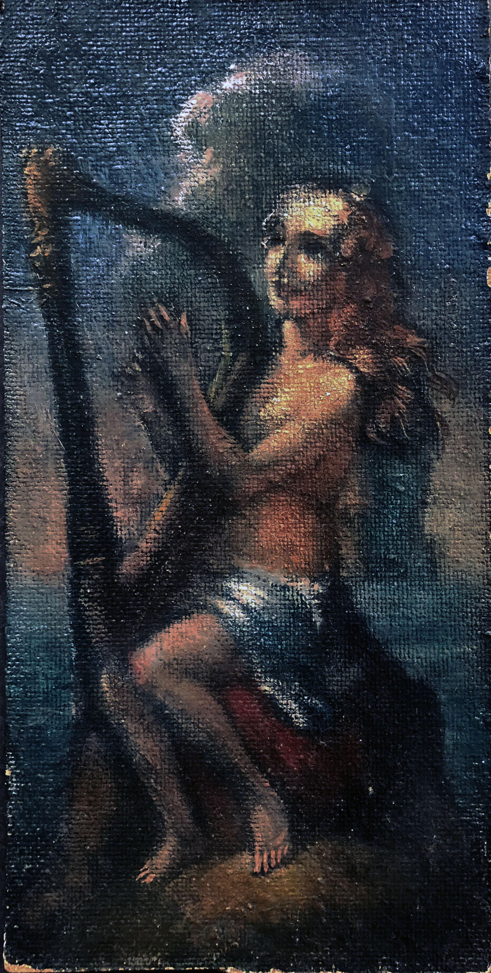Henri van der Velde (1896-1969), Jonge vrouw speelt harp