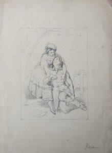 zittende man en vrouw
