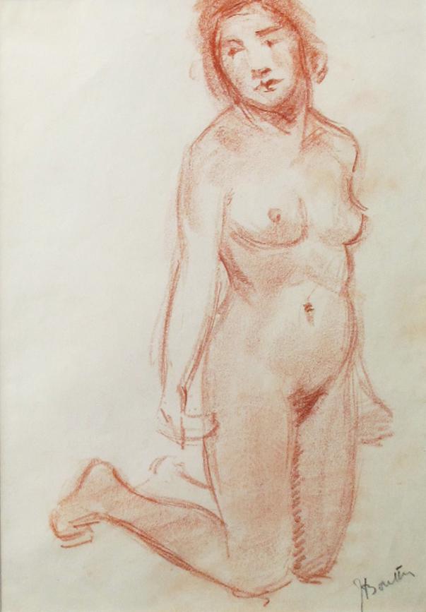 Armand Bouten (1893 -1965), rood krijt op papier