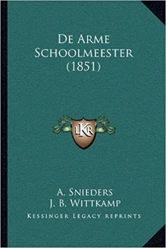 De Arme Schoolmeester 1851